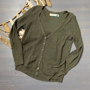 Sparrow Green Knit Cardigan